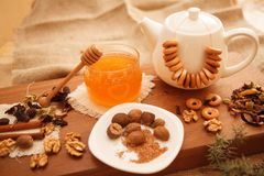 Prepare tasty cookies. family concept. Prepare tasty cookies ,Gingerbread man , heart and star Royalty Free Stock Images