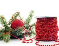 Prepare to dressing christmas tree Stock Photo
