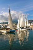 Prepare to set sail. Port in Tivat city, Montenegro Royalty Free Stock Photo