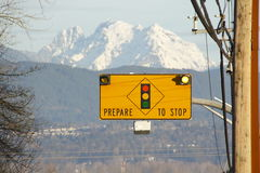 Prepare to Stop Sign Royalty Free Stock Photography