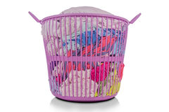 Prepare to wash clothes in the basket. Royalty Free Stock Images
