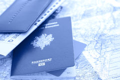 Prepare the travel documents Stock Photos