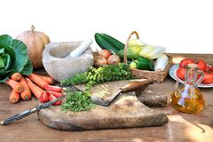 Prepare vegetables three Stock Image