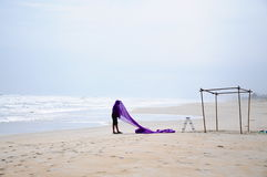 Prepare For Wedding On Beach Royalty Free Stock Images