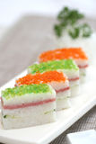 Prepared And Delicious Sushi Taken In Studio Royalty Free Stock Photos