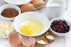 Prepared baking ingredients Royalty Free Stock Photography