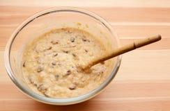 Prepared batter for banana bread Stock Image