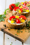 Prepared bruschetta Royalty Free Stock Photography