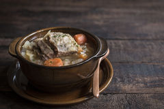 Prepared cabbage soup and ribs Royalty Free Stock Image