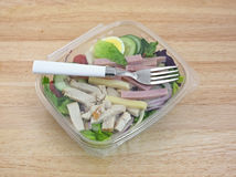 Prepared Chef Salad With Fork On Table Royalty Free Stock Image