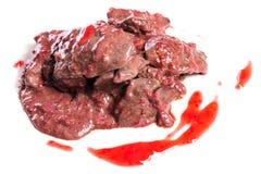 Prepared chicken liver Stock Image