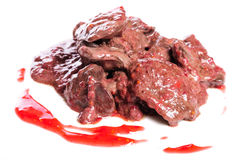 Prepared chicken liver Royalty Free Stock Images