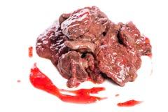 Prepared chicken liver Stock Photo