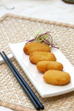 Prepared and delicious fried cake. Prepared and delicious japanese fried cake Royalty Free Stock Photo