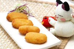 Prepared and delicious fried cake. Prepared and delicious japanese fried cake Stock Image