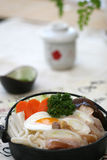 Prepared and delicious japanese chafing. Dish taken in studio Stock Images