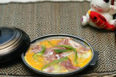 Prepared and delicious japanese chafing. Dish taken in studio Royalty Free Stock Image