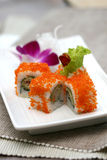 Prepared and delicious roe sushi Royalty Free Stock Images