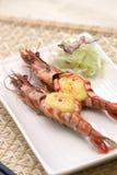 Prepared and delicious shrimps taken in studio Stock Photos