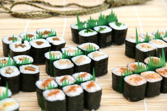 Prepared and delicious sushi. Prepared and delicious japanese sushi Stock Image