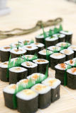 Prepared and delicious sushi. Prepared and delicious japanese sushi Stock Photos