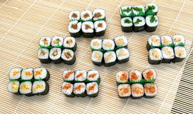 Prepared and delicious sushi. Prepared and delicious japanese sushi Stock Photography
