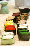 Prepared and delicious sushi. Prepared and delicious japanese sushi Stock Photo