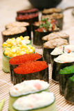 Prepared and delicious sushi. Prepared and delicious japanese sushi Royalty Free Stock Photo