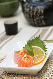 Prepared and delicious sushi. Prepared and delicious japanese sushi taken in studio Royalty Free Stock Photo