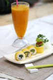 Prepared and delicious sushi. Taken in studio Royalty Free Stock Images
