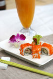 Prepared and delicious sushi. Taken in studio Royalty Free Stock Image