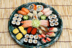 Prepared and delicious sushi Stock Image
