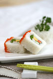 Prepared and delicious sushi taken in studio. Prepared and delicious japanese sushi taken in studio Royalty Free Stock Photos