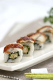 Prepared and delicious sushi taken in studio. Prepared and delicious japanese sushi taken in studio Stock Photography