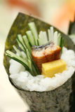 Prepared and delicious sushi taken in studio Royalty Free Stock Images