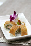 Prepared and delicious tofu roe sushi roll Royalty Free Stock Photography