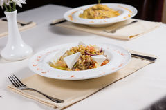 Prepared Dishes on Restaurant Table Royalty Free Stock Photo