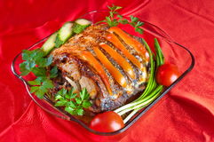 The prepared fish. Stock Images