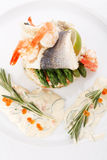 Prepared fish with rice Stock Image