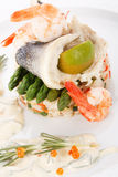 Prepared fish with rice Royalty Free Stock Images
