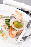 Prepared fish with rice Stock Images