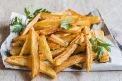 Prepared french fries Stock Photos