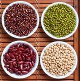 Prepared greenbean and multi colour bean stock image