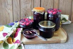 Prepared jars with  jam Royalty Free Stock Photos