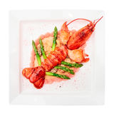 Prepared lobster, isolated Stock Photo