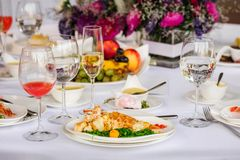 Prepared lobster on plate Stock Image