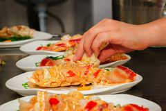 Prepared lobster on plate Royalty Free Stock Photo