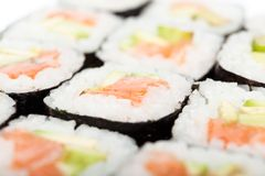 Prepared maki rolls Royalty Free Stock Photos