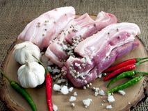Prepared marinated pork Royalty Free Stock Photography