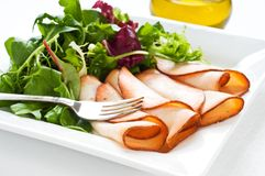 Prepared Meat and Salad Stock Images